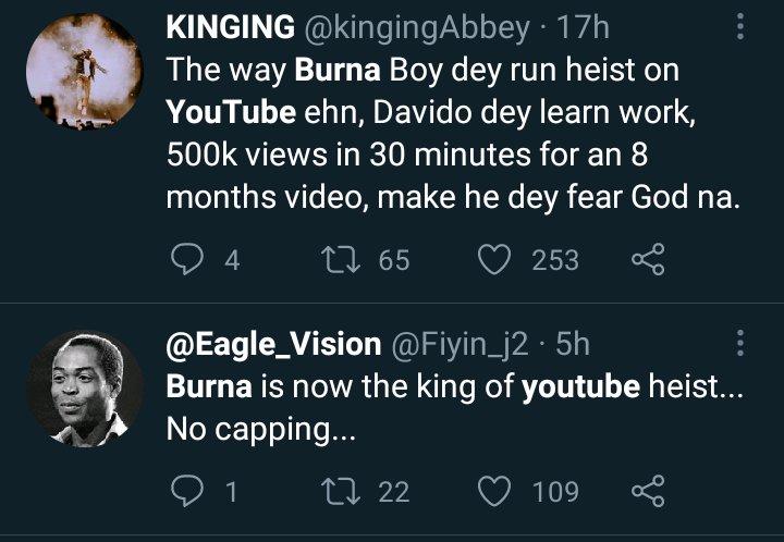 "Burna Boy Is The King Of YouTube Heist"" – Wizkid FC Attacks Burna Boy For Buying  YouTube Views » Newzandar News"