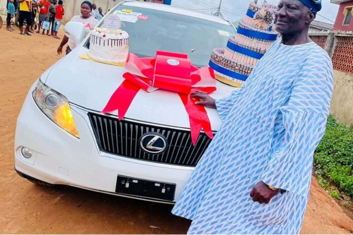 Bobrisky surprises his father with new Lexus SUV as birthday gift