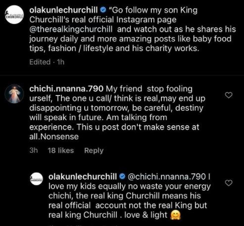 Olakunle Churchill exchanges blow with troll that lectured him on how to love his sons equally