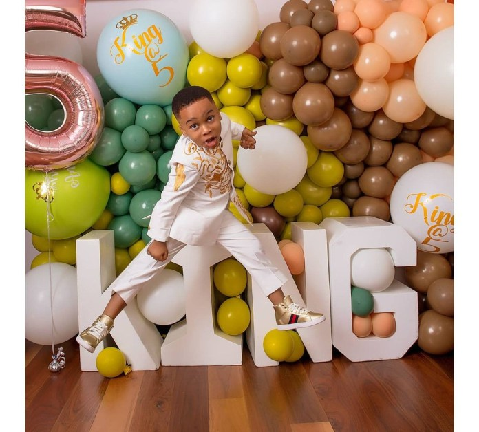 Proud Mum, Tonto Dikeh Shares Lovely New Photos Of Her Son, King Andre, As He Turns 5