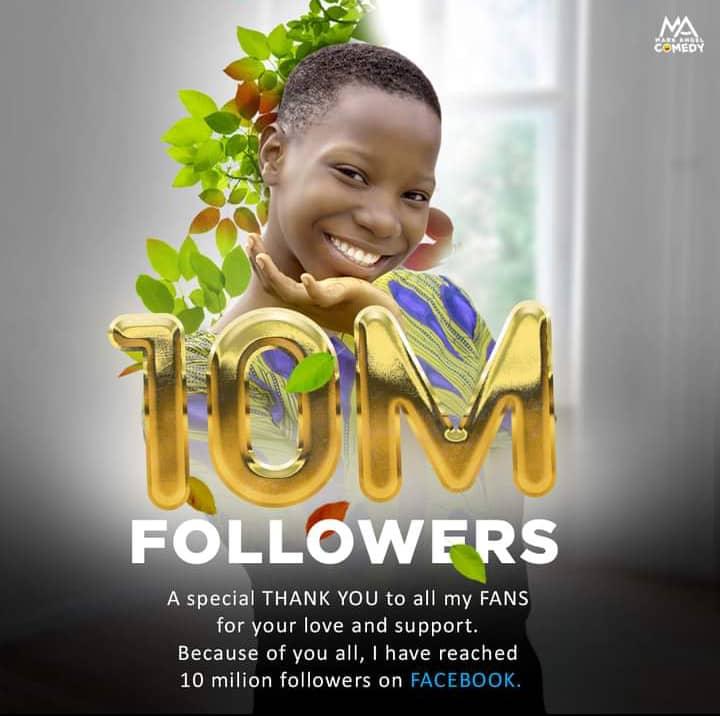 Emanuella 10 Million Followers Facebook