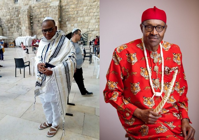Nnamdi Kanu Blows Hot, Vow to Drop Biafra Agitation If DNA Test Confirms Aso Rock Occupant Is Buhari