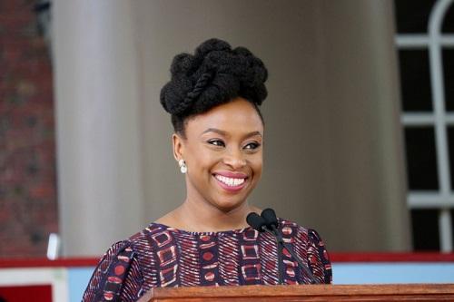 Photos of Chimamanda Adichie as She Address Harvard College Graduating Seniors