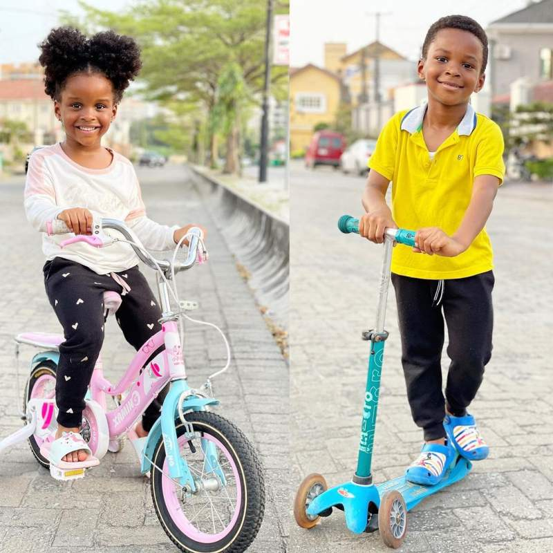 """Happy sweetest #4th birthday to my double double"" - Paul Okoye celebrates his twins"