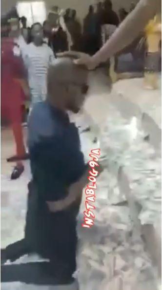 Man Pastor Cash Church Service