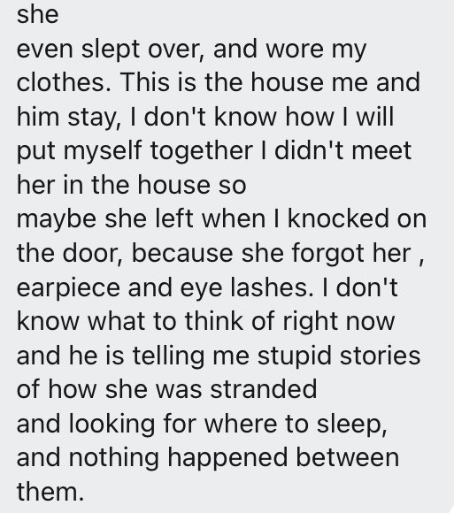 """""""My boyfriend brought his ex to spend the night in our apartment"""" - Lady laments"""