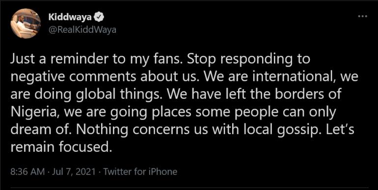 kiddwaya negative comments