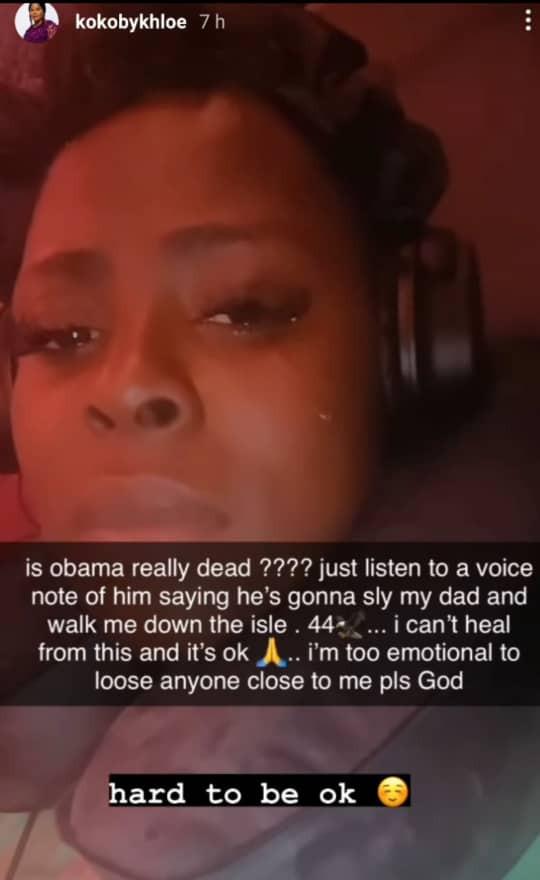 Khloe Obama DMW Emotional